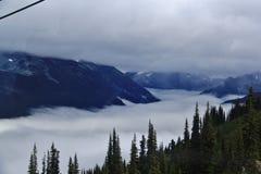 Autunno, gondola, montagna nel Whistler, Columbia Britannica, Canada Fotografia Stock