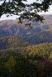 Autunno, grandi montagne fumose NP Fotografie Stock Libere da Diritti