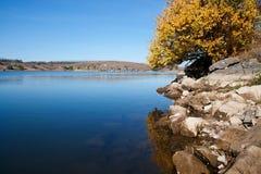 Autunno in lago Fotografia Stock