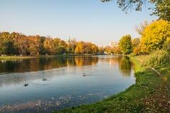 Autunno nei parchi di Mosca Fotografie Stock