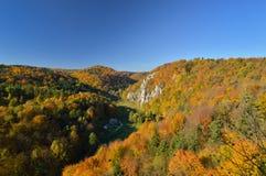 Autunno nel parco nazionale di Ojcow Immagine Stock Libera da Diritti