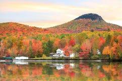 Autunno nel Vermont vicino a Groton fotografie stock libere da diritti