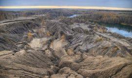 Autunno nella cava abbandonata della sabbia Fotografia Stock