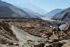Autunno nella città Kagbeni della montagna del Nepal Fotografia Stock Libera da Diritti
