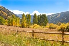Autunno nella valle di Colorado fotografie stock libere da diritti