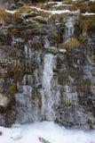 Autunno nelle montagne Ghiaccioli sulle rocce Valle di Aosta, Italia Immagine Stock Libera da Diritti