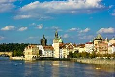 Autunno a Praga Fotografie Stock Libere da Diritti
