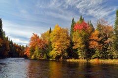 Autunno in Quebec Fotografia Stock