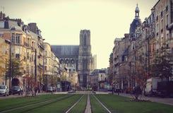 Autunno a Reims fotografie stock libere da diritti