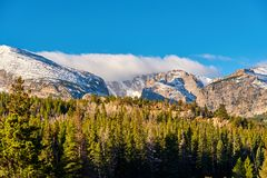Autunno in Rocky Mountains, Colorado fotografia stock