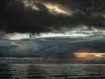 Autunno sul golfo di Finlandia fotografie stock