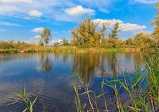 Autunno sul lago Fotografia Stock Libera da Diritti