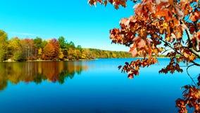 Autunno sul lago in Nuova Inghilterra immagine stock libera da diritti