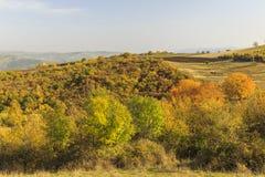 autunno sul passaggio di Ahsu l'azerbaijan immagini stock libere da diritti
