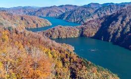Autunno in Tadami Fukushima Japan fotografia stock libera da diritti