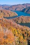 Autunno in Tadami Fukushima Japan immagini stock