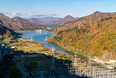 Autunno in Tadami Fukushima Japan fotografia stock