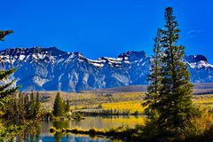 Autunno a Talbot Lake in Jasper National Park Fotografia Stock