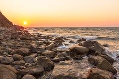 Autunno trasparente della baia di tramonto Fotografia Stock Libera da Diritti