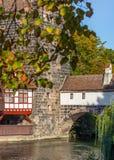 autunno-vecchia città di Norimberga-Germania-inizio Fotografie Stock