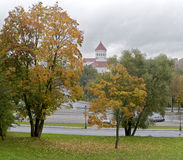 Autunno a Vilnius Fotografie Stock Libere da Diritti