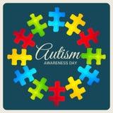 Autyzm świadomości dzień ilustracja wektor