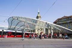 Auvent vitré à Berne Photo libre de droits