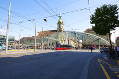 Auvent vitré à Berne en Suisse Image libre de droits