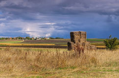 Auvergne field in autumn, France Royalty Free Stock Images