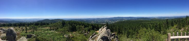 Auvergne landscape. Panoramique Royalty Free Stock Photo