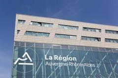 Auvergne-Rhone-Alpes byggnad i Lyon Arkivfoton