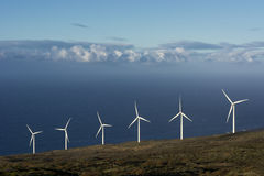 The Auwahi Wind Farm on the south side of Maui, Hawaii Stock Photos