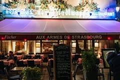 Aux armes de Strasburska Francuska restauracja Obraz Royalty Free