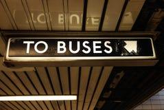 Aux autobus Image libre de droits