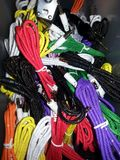 Aux cords. Different colors Royalty Free Stock Photo