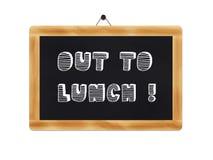 Aux déjeuner-infos sur un tableau noir Photo libre de droits