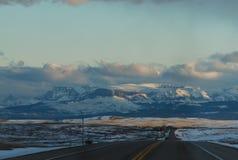 Aux montagnes Photo libre de droits