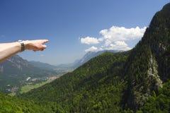 Aux montagnes images stock