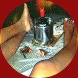 Aux pieds d'amour Photo stock