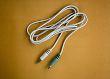 Aux plug audio stereo cable Stock Photography