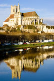 Auxerre. City of Auxerre, Burgundy, France Stock Images