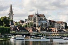 Auxerre Imagen de archivo libre de regalías