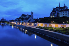 Auxerre along Yonne River Stock Images