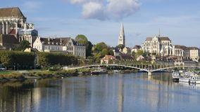 Auxerre Burgundy France royalty free stock photo