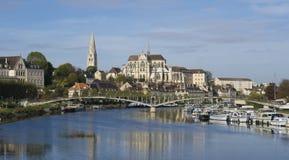Auxerre Bourgondië Frankrijk Stock Afbeelding