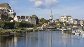 Auxerre Bourgondië Frankrijk Royalty-vrije Stock Foto