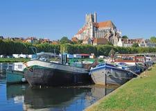 Auxerre, Burgunder, Frankreich Lizenzfreie Stockfotos