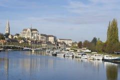 Auxerre Burgundy Francja Obrazy Royalty Free