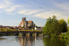 Auxerre royalty free stock image