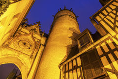 Auxerre Clock Tower Royalty Free Stock Photos